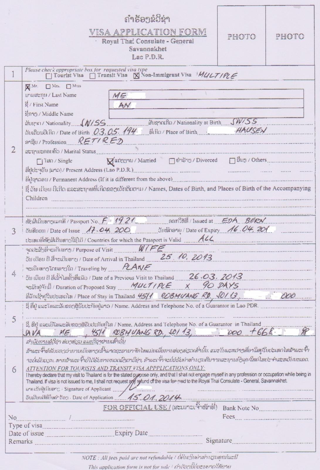 forum topic thai wife apply schengen visa