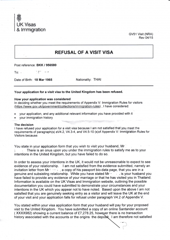 our experience of uk visa application-refusal