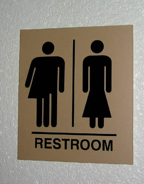 Transgender Bathroom Sign Gay People In Thailand