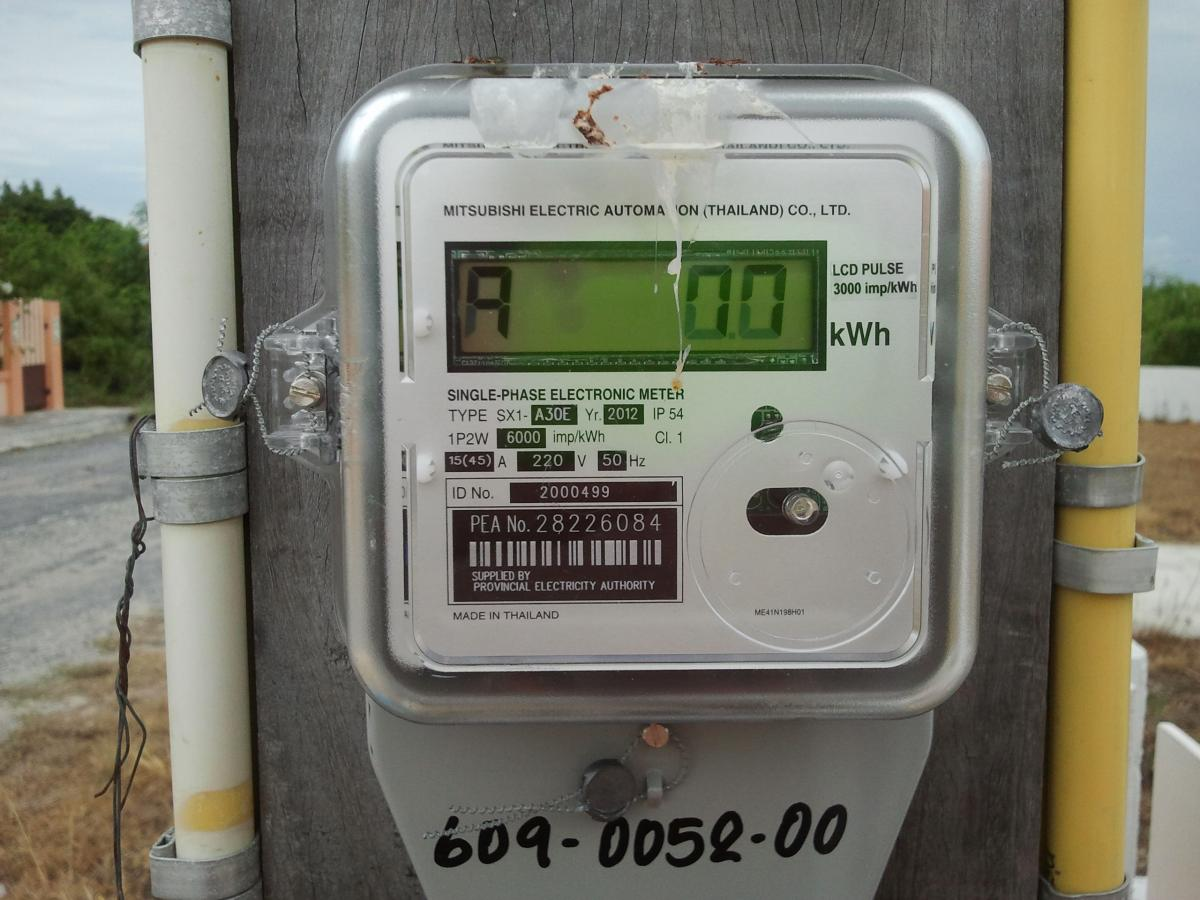 New Digital Electric Meter : New electric meter electronic digital the electrical
