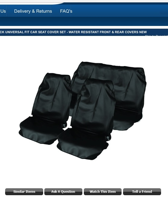 Help To Find Universal Fit Car Seat Covers