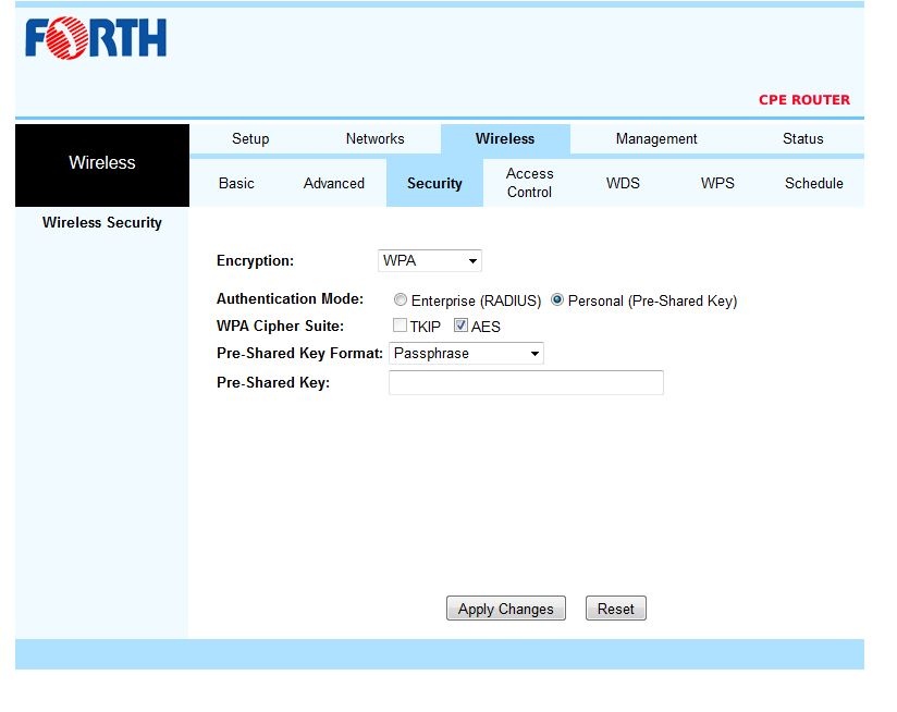 how to change password on thomson router