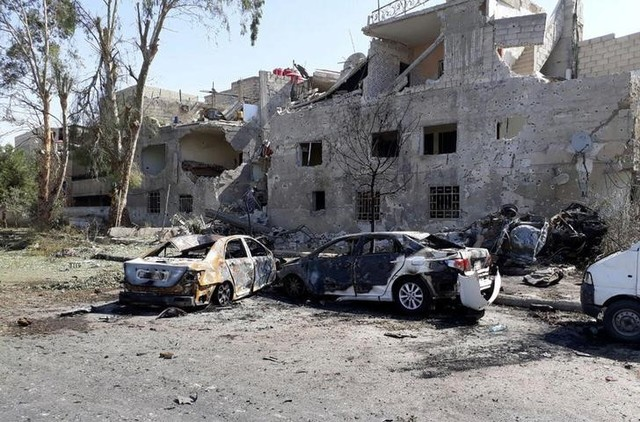 3 auto  bombs hit Damascus, at least 7 killed