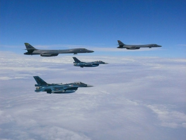 U.S. bombers with Korea, Japan jets show ready to 'Fight Tonight'