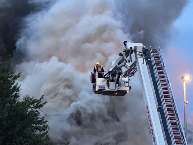 Firefighters tackle massive blaze at Chingford Poundland store