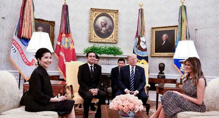 Trump says USA hopes to improve trade balance with Thailand
