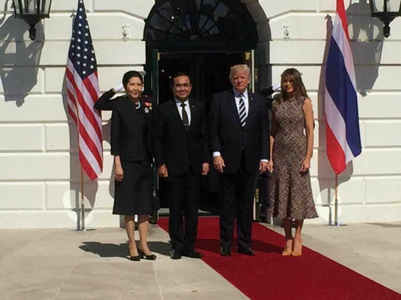 Trump says United States hopes to improve trade balance with Thailand