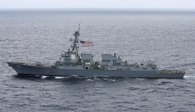 United States  warship sails close to Chinese-controlled features in South China Sea