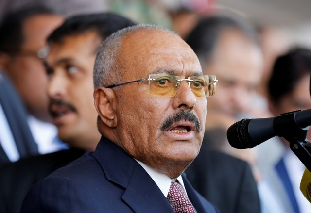 Yemen's Saleh says 'citizens have revolted against Houthi aggression'