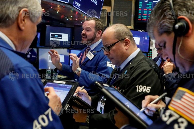 Trump celebrates record day on Wall Street in tweet