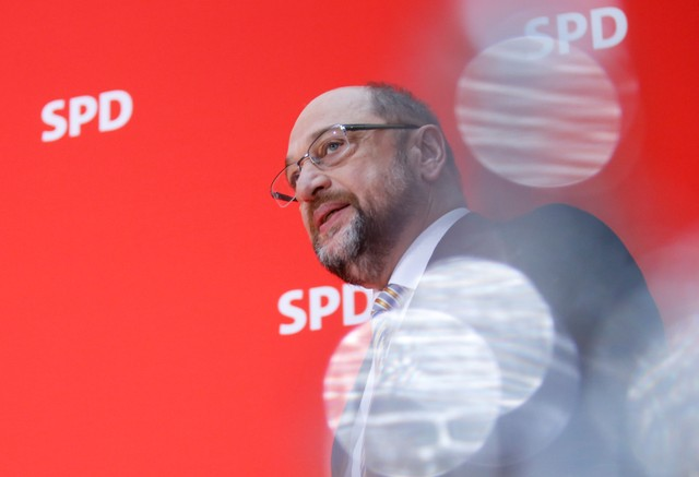German SPD leader Schulz wants United States of Europe by 2025