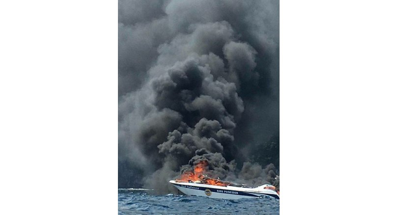 Boat fire off Koh Phi Phi - Chinese tourists injured
