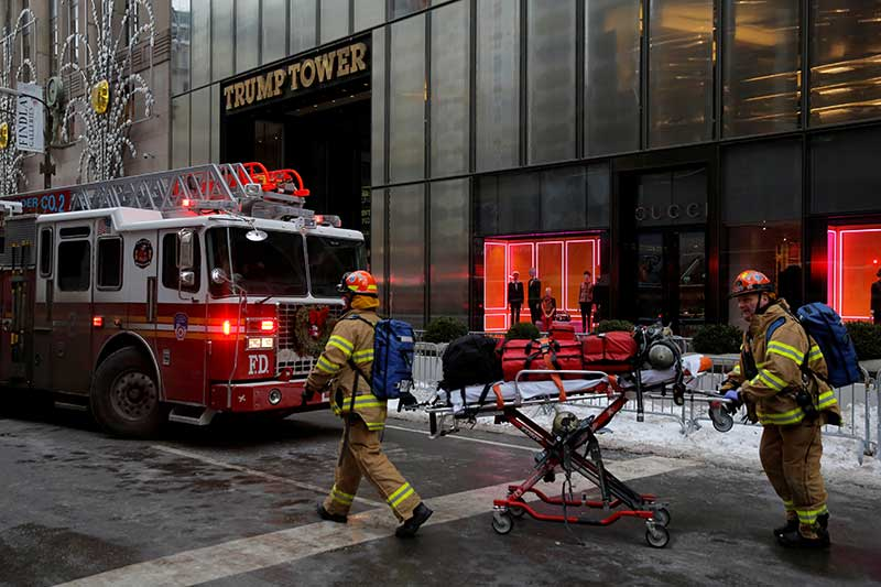 Secret Service Spotted Fire Atop Trump Tower