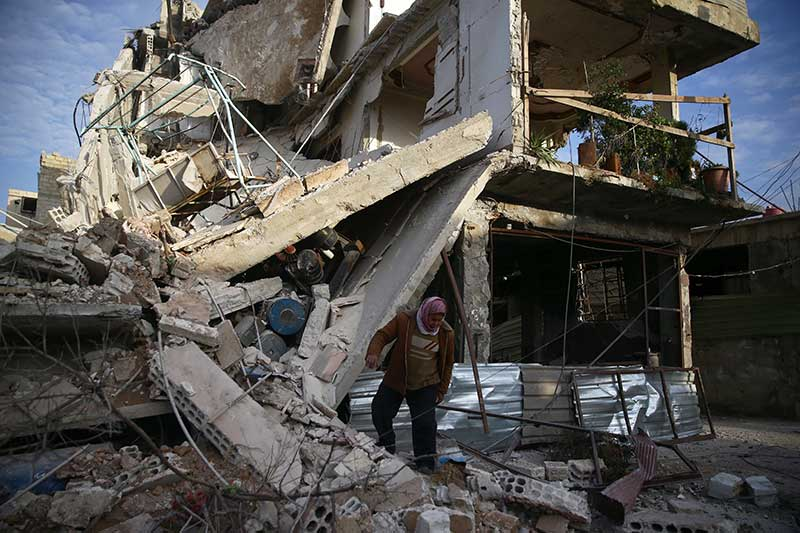 New raids on Syria rebel enclave kill 45 civilians