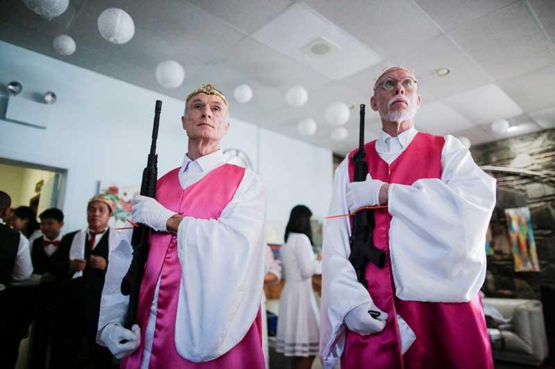 Church ceremony involving AR-15 rifles causes controversy