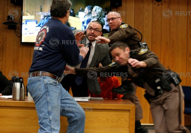 Father Of Three Nassar Victims Lunges At Him In Courtroom