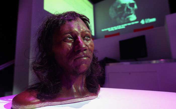 Cheddar Man, first modern Briton, had dark skin and blue eyes