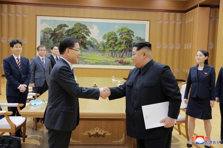 South Korea meets North Korea ahead of US talks