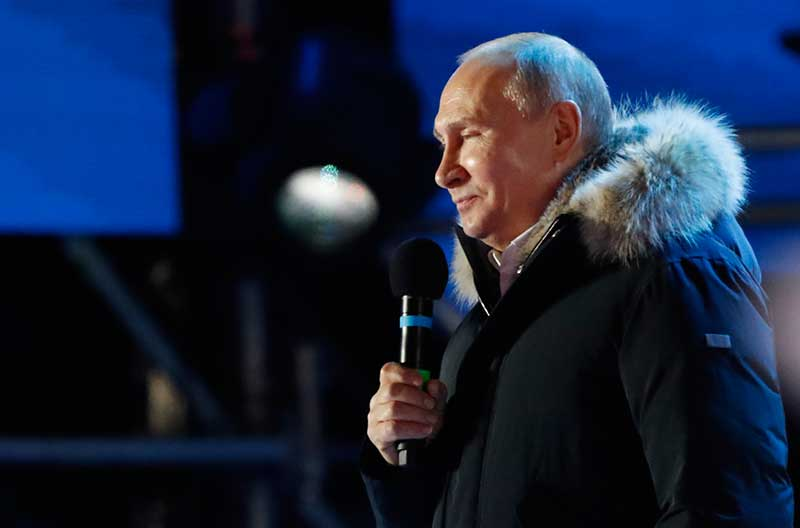 Russia's Putin headed for reelection