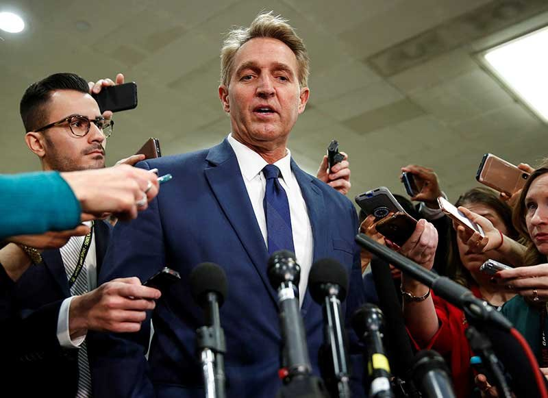 Special counsel protection bill stalls in U.S. Senate, Flake starts protest