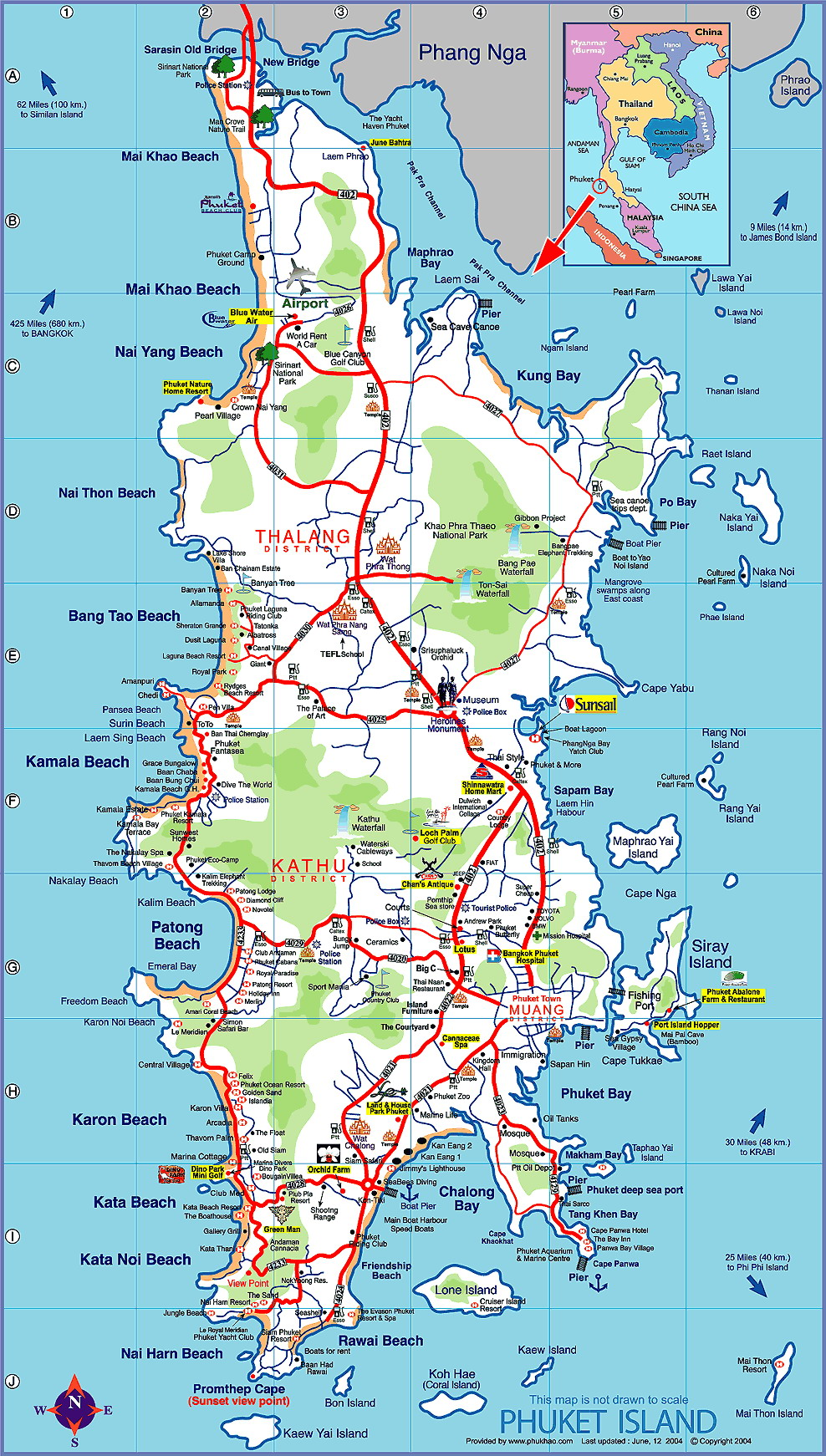 Maps Of Southern Thailand - Southern Thailand Forum ...