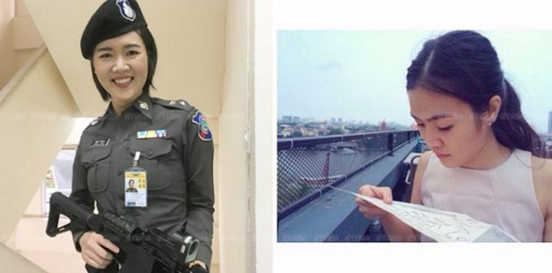 Cute police woman