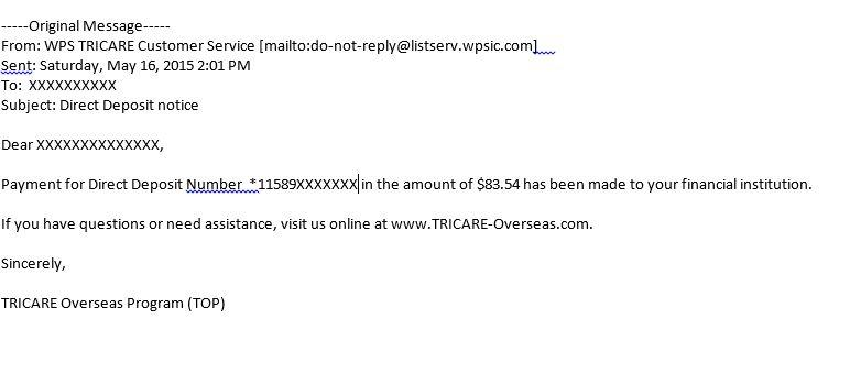 Tricare Overseas Now Has Direct Deposit for Reimbursements - Health