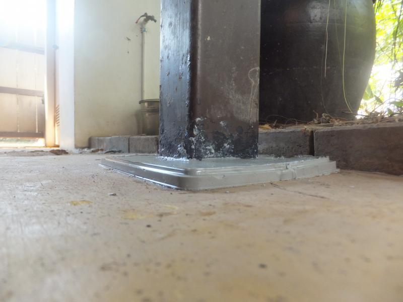 How to prevent rust at base of a steel post - DIY housing forum