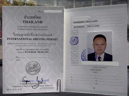 where to get international driving permit for thai license thai