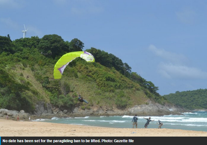 Paragliding temporarily banned in Rawai - Phuket News - Thailand