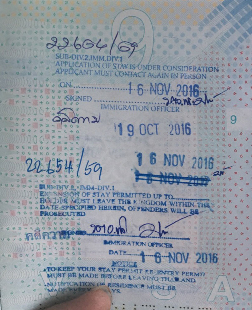 Overstay stamp in passport - Thai visas, residency and work