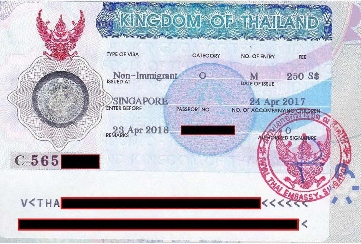Multiple Entry Non-O Visa Singapore - Thai visas, residency