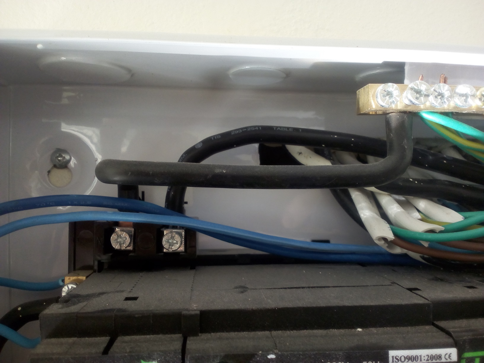 New House Strange Breaker Box Wiring The Electrical Forum Home Circuit Buzzing Top S