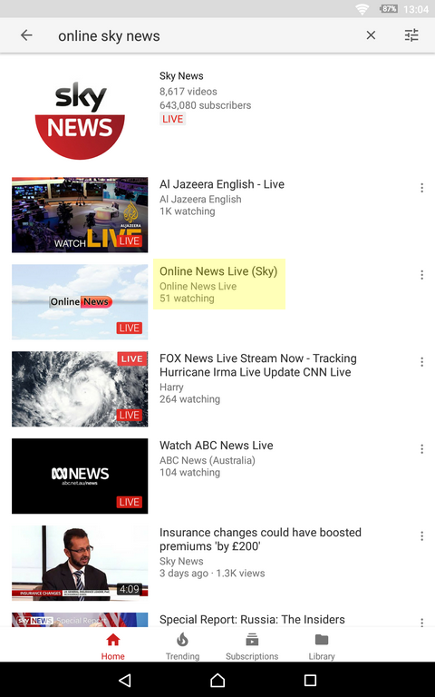 Sky New Live Stream YouTube Gone - IT and Computers - Thailand Visa