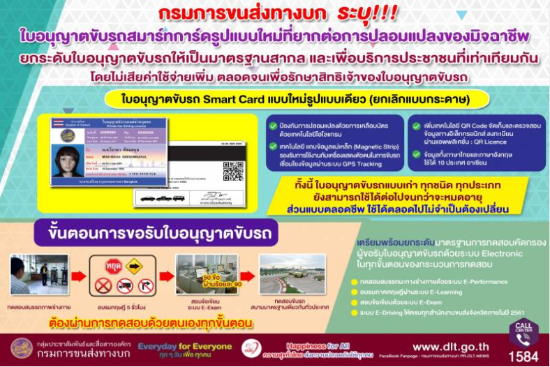 Hard to fake licenses and new driving test procedures to make Thai