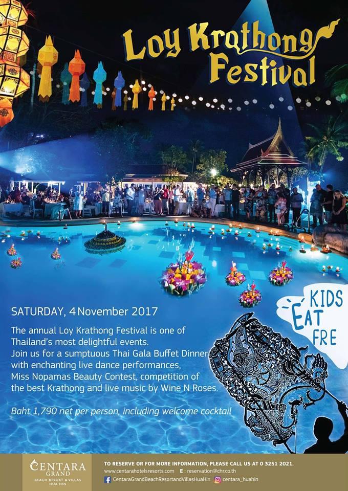 Loy Krathong Festival At Centara Grand Beach Resort Villas Hua Hin