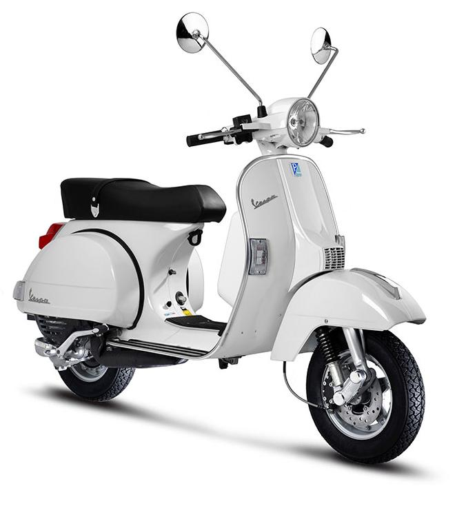 Brand-new PX125 two-stroke scooters for sale at Vespa