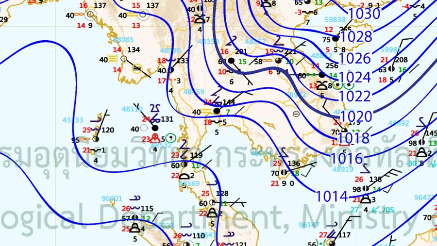 Thailand Weather Map.Thailand News Weathermen Forecast Further Drop In Temperatures