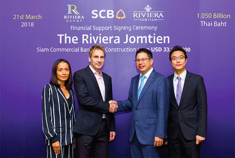 Riviera Group Signs Construction Loan Agreement With Siam Commercial