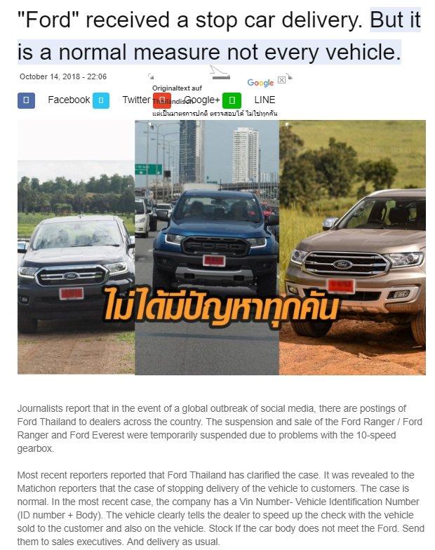Ford Ranger Everest Transmission Troubles!? - Thailand Motor