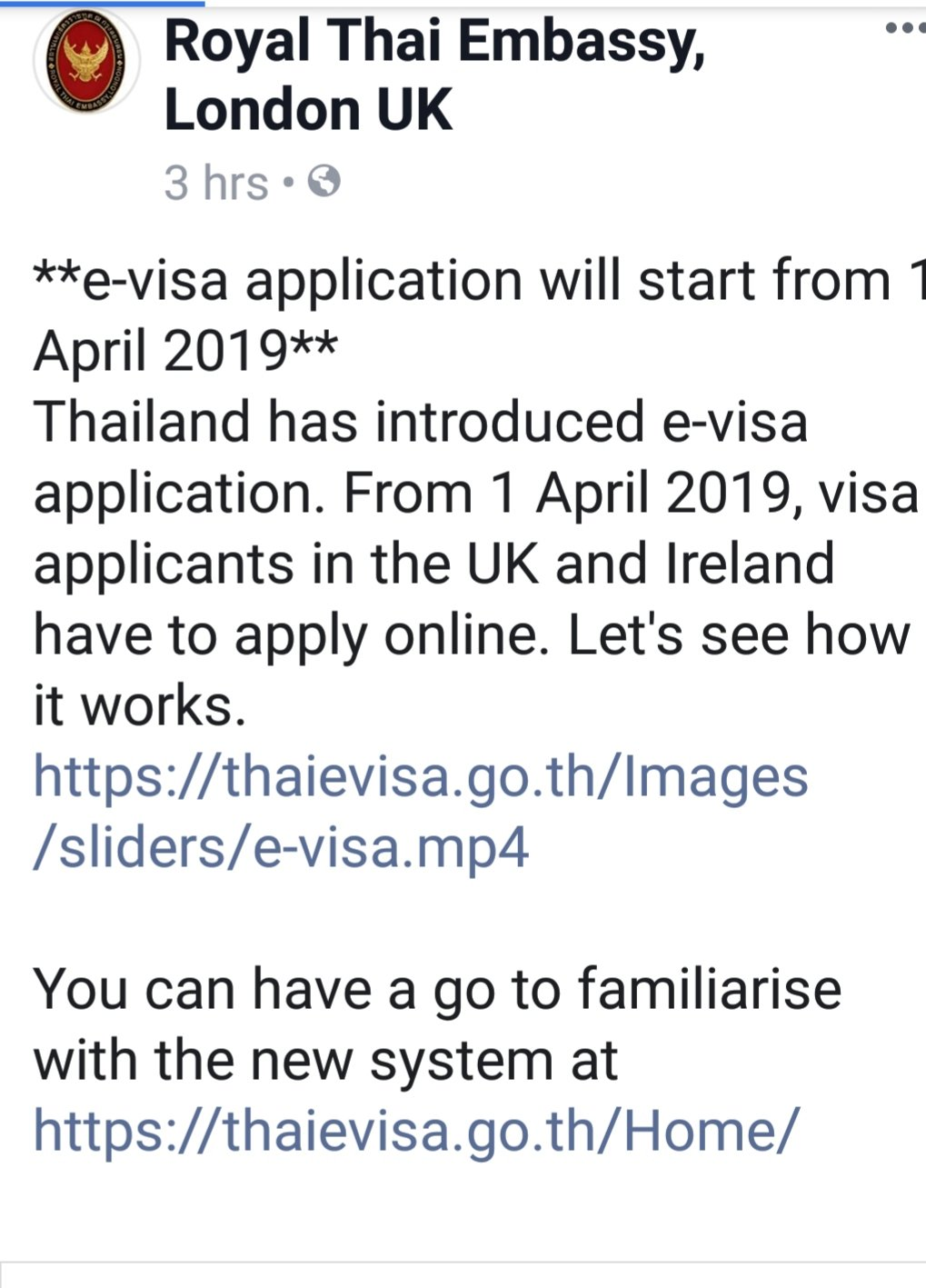 Royal Thai Embassy London Electronic Application Only From 1st April 2019 Thai Visas Residency And Work Permits Thailand Visa Forum By Thai Visa The Nation