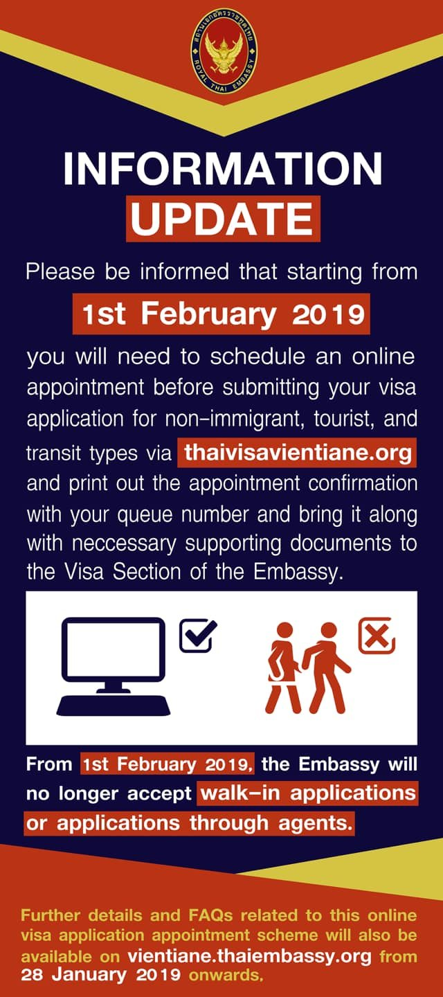Any advice about ED Visa  Appointment System Vientiane FULLY