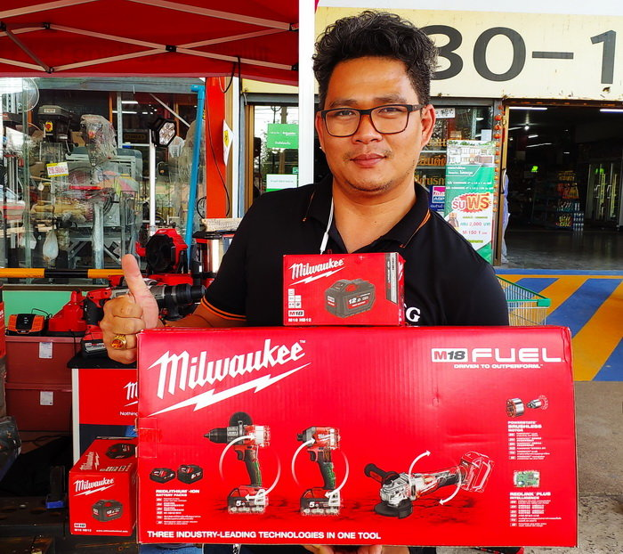 Milwaukee 18 volt three tool set Buriram Thailand.jpg