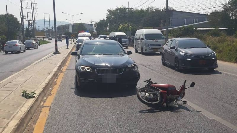 Phuket News: Man, 82, dead after motorbike struck by BMW