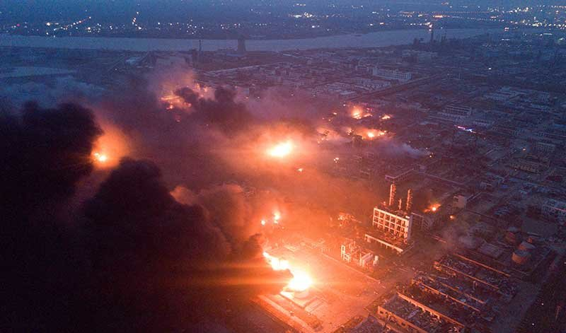 Blast at Chinese chemical plant kills 44, injures 640 - World News