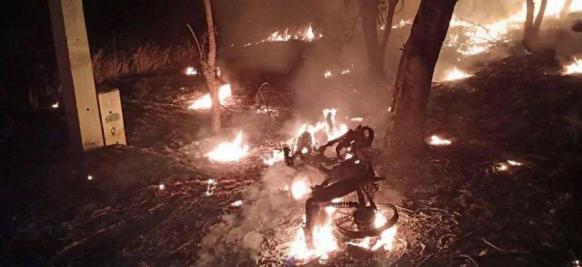 Sukhothai man burns to death in motorcycle crash - Thailand