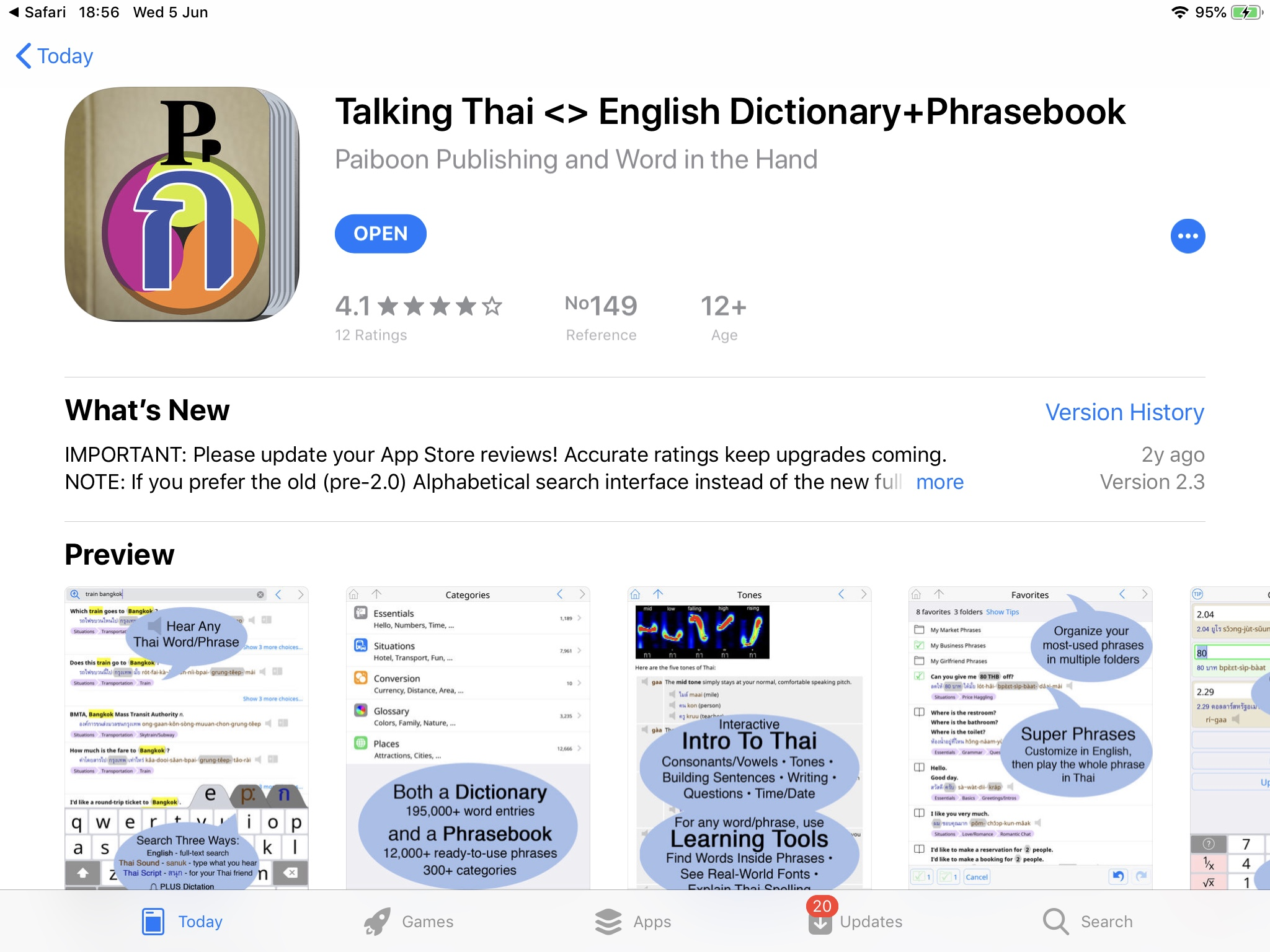 Digital Language Translator - Thai language - Thailand Visa