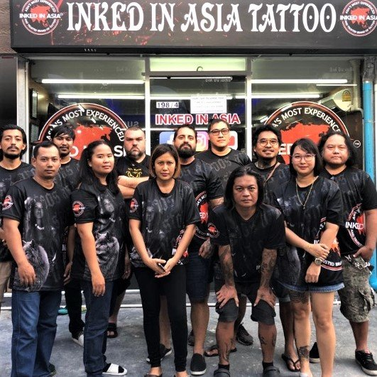 The Full Team Outside The New Bangla Tattoo Studio At Inked In Asia Bangla Tattoo Studio Patong Phuket Thailand.jpg