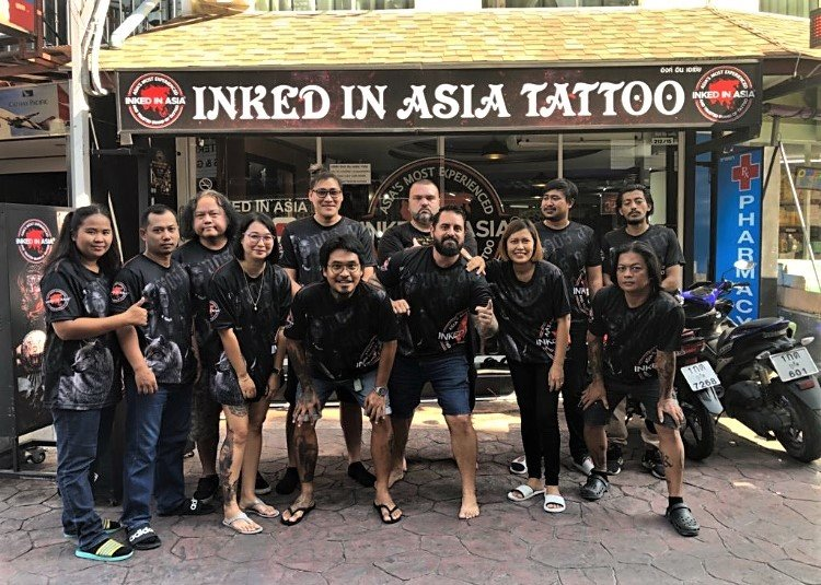 The Full Team Outside Kepsup HQ At Inked In Asia Tattoo Studio Patong Phuket Thailand.jpg