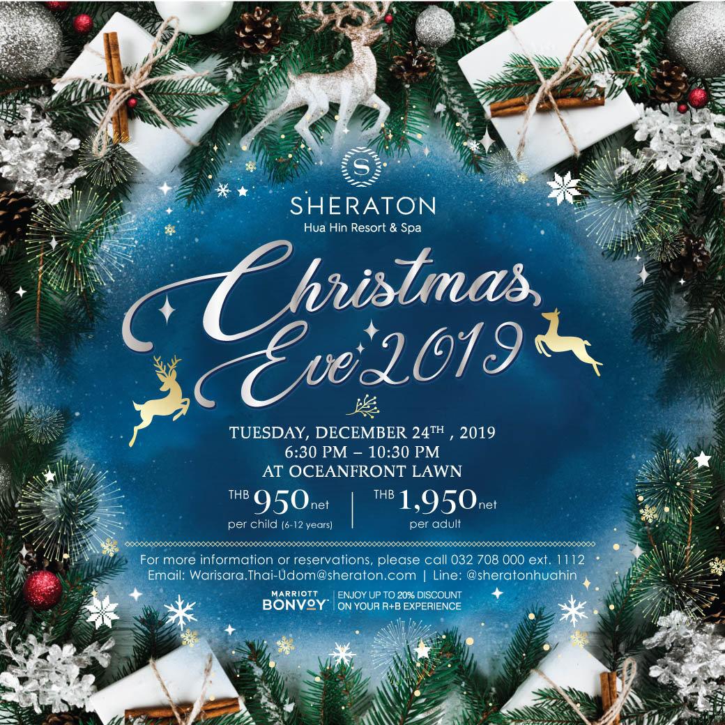 Christmas Dinner Hua Hin 2020 Christmas Eve 2019 at Sheraton Hua Hin Resort & Spa – Tuesday 24th